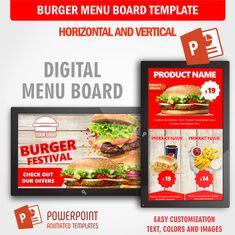 21 Best Digital Menu Board Powerpoint Template Images
