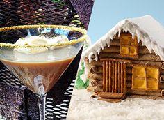 Fun Holiday Recipes: Gingerbread Log Cabin & Campfire S'more Martini