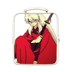 Japanese Anime Inuyasha Custom Kids School Highgrade PU Leather Square Backpack Bag Shoulder Bag -- Read more reviews of the product by visiting the link on the image.