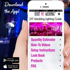 Don't forget to download our FREE new app -- the DIY Wedding Lighting Guide! Available for iPhone and Android atRentMyWedding.com/App.  Featuring quantity calculators, look book, how-to videos, and more. #rentmyweddingapp #diyweddinglightingguide #rentmywedding #iphone #app #iphoneapp #newapp #appstore #apps #applaunch #AppStore #appy #apple #iOS #android #downloadnow #lookbook #howto #tutorial #wedding101 #lighting101 #diy #weddingguide #weddingresource #weddingplanning #weddingplanner…