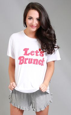 show me your mumu: coalson tee - let's brunch! Happy Mumu Monday from RIffraff