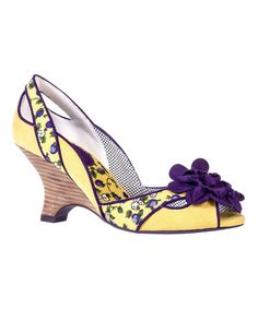 fddf5ded1fe Another great find on  zulily! Lemon Holly Pump by Ruby Shoo  zulilyfinds  Floral