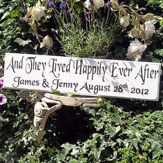 Personalised 'Happily Ever After' Sign - home & garden