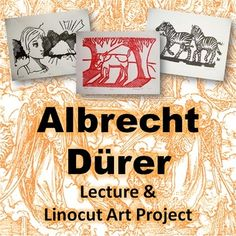 HIGH SCHOOL ART Albrecht Dürer Lecture and Linocut Art Project: This lecture teaches students about Albrecht Durer's involvement with the Protestant Reformation and his artwork as a printmaker. The lesson is for linocut printmaking art project. High School Art, Middle School Art, Middle Ages, Art History Lessons, Art Lessons, Artist Project, Atelier D Art, Art Curriculum, Albrecht Durer