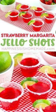 Want to learn how to make jello shots? This delicious strawberry margarita jello. Want to learn how to make jello shots? This delicious strawberry margarita jello shot recipe is perfect for summer pool parties, backyard BBQs, Cinco de Mayo and more! Alcohol Jello Shots, Best Jello Shots, Making Jello Shots, Alcohol Drink Recipes, Jello Shots Tequila, Summer Jello Shots, Luau Jello Shots, Jello Shots With Rum, Bachelorette Jello Shots