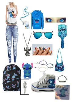 Lilo and stitch by cierrajean14 on Polyvore featuring polyvore, interior, interiors, interior design, home, home decor, interior decorating, H&M, Disney and Ray-Ban