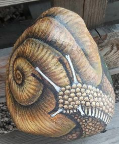 Snails, Stone Art, Rock Art, Creative Inspiration, Painted Rocks, Drawings, Wood, Crafts, Painting