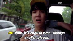 Iconic jhope moment right here. He reinvented engrish.