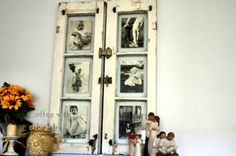 Vintage Window Photo Display