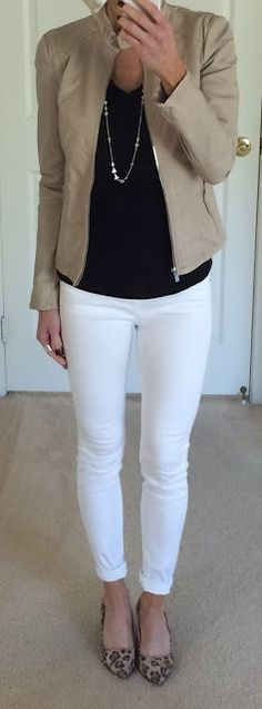 Cream Sweater + Distressed Jeans  Sweater: Target / Jeans: Express / Necklace: Express / Shoes: Sole Society Textured Knit Moto + Me...