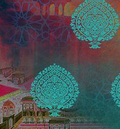 Mughal Garden - Art Print - Detail