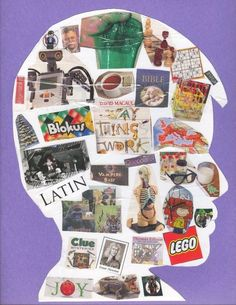 Inside My Head : an activity for kids, full of all the wonderful things he/she thinks of on a daily basis…Legos, robots, soup, chess, etc.
