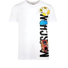 Moschino Moschino Rubber Ring T-Shirt (€145) ❤ liked on Polyvore featuring men's fashion, men's clothing, men's shirts, men's t-shirts, mens summer t shirts, mens jersey shirts and mens summer shirts
