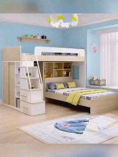Awesome home decor space organizer and room organiser, living room organize, bedroom organize, home decor, home decor organize Small Room Design Bedroom, Small House Interior Design, Kids Bedroom Designs, Bunk Bed Designs, Bedroom Furniture Design, Room Ideas Bedroom, Home Room Design, Bedroom Decor, Bunk Bed Decor
