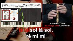 Dangerous Woman Ariana Grande Educacao Musical Karaoke notas flauta pian...