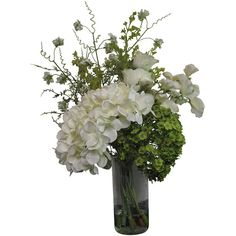 Abigail Ahern Cowden Flower Arrangement ($109) ❤ liked on Polyvore featuring home, home decor, floral decor, flowers, plants, white, silk flower arrangement, artificial flower stems, fake flowers and flower bouquet