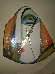 art ceramic wall clocks