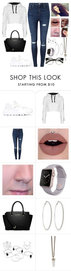 """Untitled #677"" by edisa-alic-1 ❤ liked on Polyvore featuring NIKE, Topshop, Miss Selfridge, MICHAEL Michael Kors, Roberta Chiarella, Givenchy and ZeroUV"