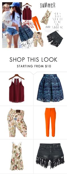 """""""Summer is almost here!"""" by senseofstyle1 ❤ liked on Polyvore featuring Maje, Etro, STELLA McCARTNEY, VILA, Sans Souci, Rika and Brewster Home Fashions"""