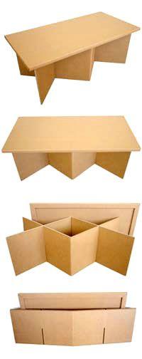 強化ダンボールテーブル「クロス・ロー」の組立て方