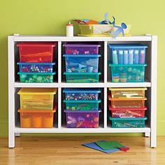 Kids' Storage Containers: Kids Colorful See-Through Stackable Box | The Land of Nod