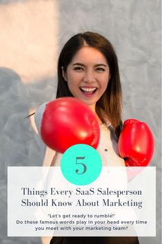 Discover five things every SaaS salesperson should know about marketing and how sales and marketing alignment can help grow your business. Ready To Rumble, Famous Words, Word Play, Level Up, Sales And Marketing, Growing Your Business, 5 Things, Puns