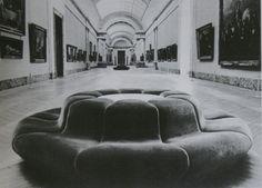 "Seating Elements, Grand Gallery of the Louvre, "" Georges Pompidou, Pierre Paulin, Louvre, Minimalist Furniture, Modern Love, Blog Design, Sofa Furniture, Pop Culture, Art Deco"