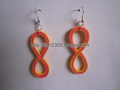 Handmade Jewelry - Paper Quilling Figure Eight Earrings (Free Form Quilling) (1)