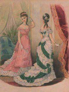 La Mode Illustrée,1876 fashion plate