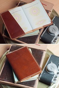 Brown Leather Passport Cover Italian Veg Tan by SHKIRA on Etsy, $30.00