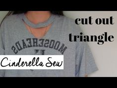 How to cut triangle out of front of tshirt - T-shirt keyhole choker tuto...
