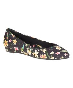 Black Coromandel Darlene Leather Flat