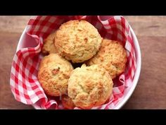 Almond Flour Biscuits, Low Carb & Gluten Free (VIDEO) | Healthy Recipes