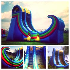 Rampage Slide 21' Inflatable Water Slide or Dry Slide for Rental Call Magic Jump Rentals at 800-873-8989 This Rampage Slide can be used as a Waterslide or as a regular dry slide. It is good for ages 12 and up and for almost all ocassions. Feel a real adrenaline rush with this steep and tall slide. The Rampage slide features a unique curve at the end which will make you scream for joy. Rent this for your next party or event in So Cal area.