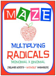 Worksheets Radical Equation Review Worksheet Match Up equation and activities on pinterest maze radicals multiplying monomial by binomial without var from nevergiveuponmath pages this activity is a good review of understanding how