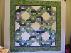 Pattern Over and Under from Scrap Basket Sensations by Kim Brackett. Made with a Bali Pop called Grasshopper.