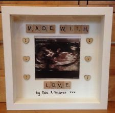 Baby Scan Scrabble Photo Frame Gift
