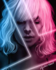 The Strange Harbors Podcast — Strange Harbors Atomic Blonde Aesthetic, Aesthetic Grunge, Action Film, Action Movies, Atomic Blonde Charlize Theron, Mane Event, Long Black Hair, Alternative Movie Posters, About Time Movie