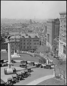 """West End, Charlestown, and Bunker Hill Monument from State House"" 1924"