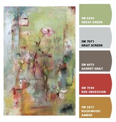 Paint colors from Chip It! by Sherwin-Williams. Artist - Kenson. ChipCard by Reni Apostolova.