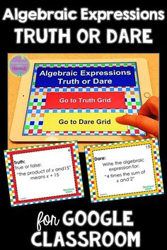 53 best google slide games images on pinterest slide games review algebraic expressions truth or dare math game for google classroomslides fandeluxe Choice Image
