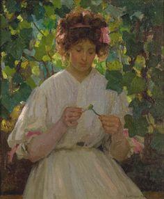Loves Me, Loves Me Not by Ethel Carrick, 1909, WikiArt.org