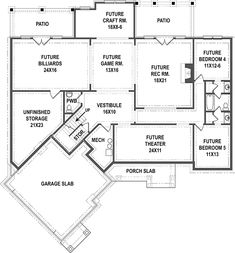 Your basement flooring options are not really any different from the flooring options elsewhere in your home. Everything from ceramics to hardwood, all are possible choices for your basement floor… Basement Flooring Options, Basement Floor Plans, Craftsman Style House Plans, Great Rooms, Square Feet, How To Plan, Tips, Flooring Tiles, Dark Flooring