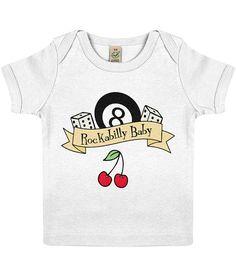 Rockabilly Baby Organic cotton baby t-shirt cherry dice 8