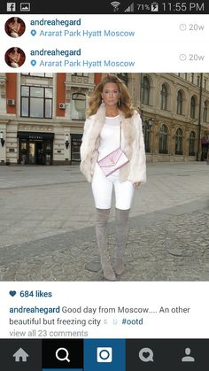 1 City O, Moscow, White Jeans, Instagram Accounts, Fashion Looks, Ootd, My Style, Pants, Outfits