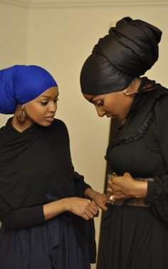 Neatly done headwraps