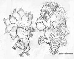 foo dog tattoo - Google Search