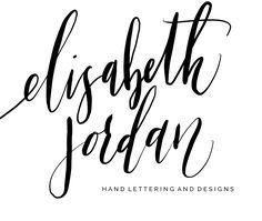 New Logo, New Website!   www.elisabethjordancalligraphy.com