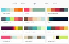 Find the perfect palette based on any color's hex code!
