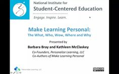 Make Learning Personal The What, Who, Wow, Where and Why on Vimeo